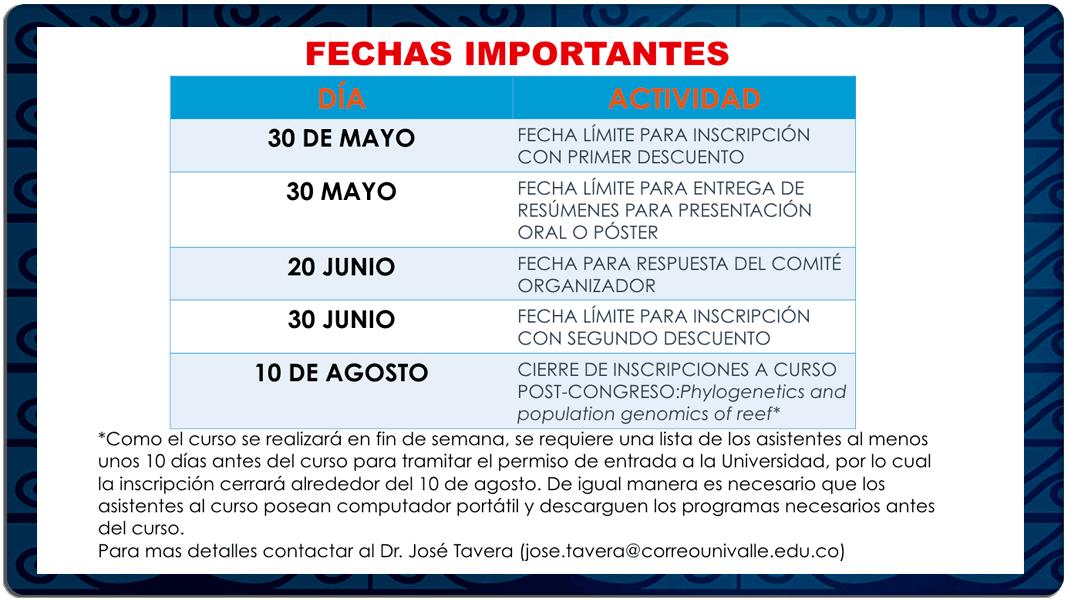 Acictios XIV Congreso Colombiano de Ictiología y V Encuentro de Ictiólogos Suramericanos