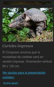 V Congreso Colombiano de Zoología Carteles Impresos