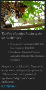 V Congreso Colombiano de Zoología - Tarifas - Noviembre 20